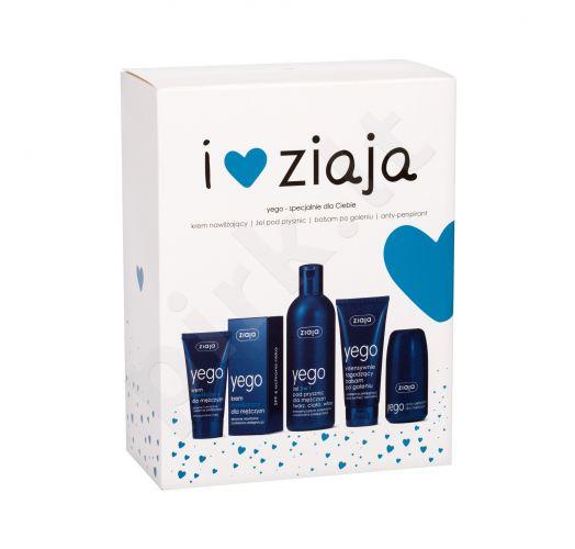 Ziaja Men, rinkinys dušo želė vyrams, (dušo želė 3in1 300 ml + Hydrating kremas SPF6 50 ml + balzamas po skutimosi 75 ml + Antiperspirant 60 ml)