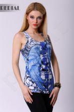 4318-3 Švarkelis stiliaus Glamour REDIAL - mėlynos spalvos