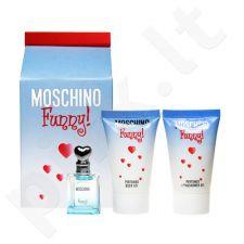 Moschino (EDT 4 ml + 25 ml Body gel + 25 ml dušo želė) Funny, rinkinys moterims