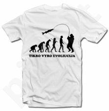 """Marškinėliai """"Žvejo evoliucija"""""""