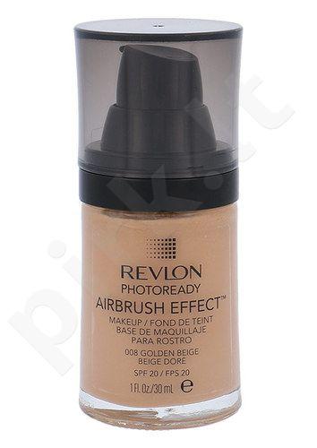 Revlon Photoready Airbrush Effect Makeup SPF20, makiažo pagrindas, kosmetika moterims, 30ml, (008 Golden Beige)