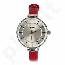 Moteriškas laikrodis SKMEI  1184CL Silver Case Light Red