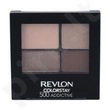 Revlon Colorstay 16 Hour akių šešėliai, kosmetika moterims, 4,8g, (500 Addictive)
