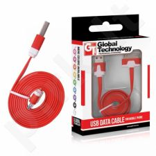 CABLE USB  iPH.3G/3Gs/4/4s FLAT red