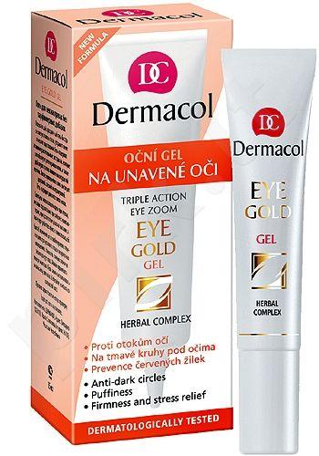 Dermacol Eye Gold, paakių želė moterims, 15ml
