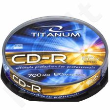 CD-R TITANUM [ cake box 10 | 700MB | 52x ]