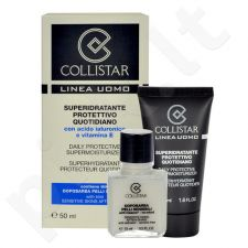 Collistar Men Daily Protective Supermoisturizer rinkinys vyrams, (50ml Men Daily Protective Supermoisturizer + 15ml Sensitive Skin After-Shave)