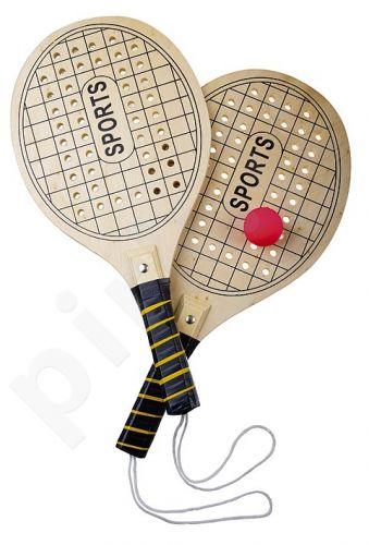 Paplūdimio teniso raketės med. su kamuoliuku 8523
