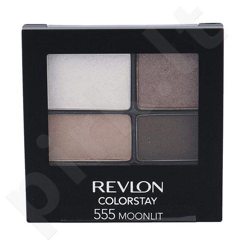 Revlon Colorstay 16 Hour akių šešėliai, kosmetika moterims, 4,8g, (555 Moonlit)