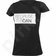 Marškinėliai Outhorn Message Tee Because W HOL17-TSD608 juoda