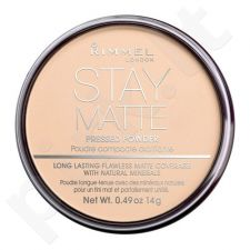 Rimmel London Stay Matte Long Lasting presuota pudra, kosmetika moterims, 14g, (001 Transparent)