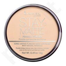 Rimmel London Stay Matte, kompaktinė pudra moterims, 14g, (001 Transparent)