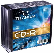CD-R TITANUM [ slim jewel case 10 | 700MB | 52x ]