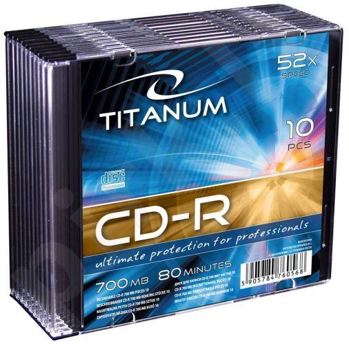CD-R TITANUM [ slim jewel case 10 | 700MB | 52x ]