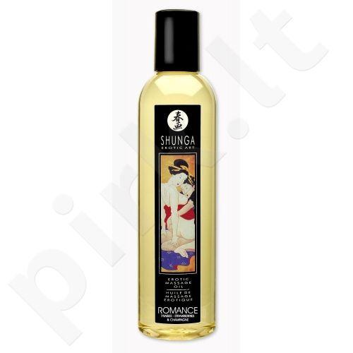 Masažo aliejus Shunga Romance - Braškinis šampanas 250 ml