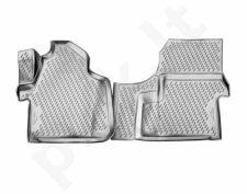Guminiai kilimėliai 3D MERCEDES-BENZ Sprinter 2015->, 2 pcs. /L46007G /gray