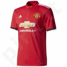 Marškinėliai futbolui adidas Manchester United Home Jersey 17/18 M BS1214
