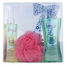 Fenjal Oil Skincare Kit 1506 rinkinys moterims, (200ml dušo aliejus + 150ml Sensual kūno aliejus + Kempinė)