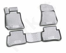 Guminiai kilimėliai 3D MERCEDES-BENZ E-Class W212 2009-2016, 4 pcs. /L46019G /gray
