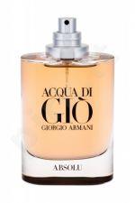 Giorgio Armani Acqua di Gio, Absolu, kvapusis vanduo vyrams, 75ml, (Testeris)