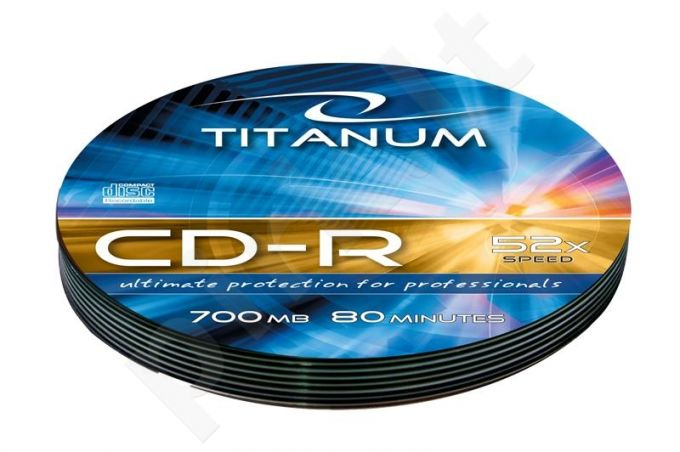 CD-R TITANUM [ Soft Pack 10 | 700MB | 52x | Silver ]