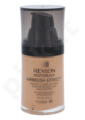 Revlon Photoready Airbrush Effect Makeup SPF20, makiažo pagrindas, kosmetika moterims, 30ml, (005 Natural Beige)
