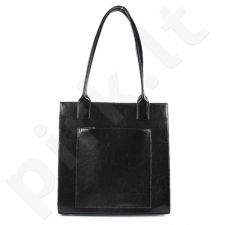 DAN-A T246 juoda rankinė iš natūralios odos , moteriška