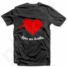 """Marškinėliai """"Meilė liejas per kraštus"""""""