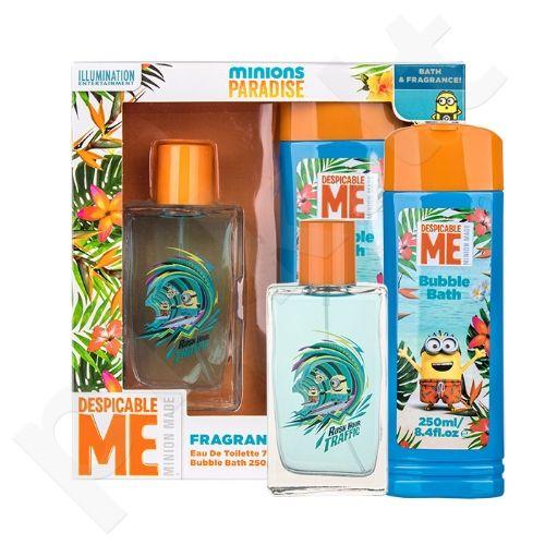 Minions Minions Paradise rinkinys vaikams, (EDT 75 ml + vonios putos 250 ml)