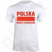 Marškinėliai Polska Biało-Czerwoni baltas  S337909