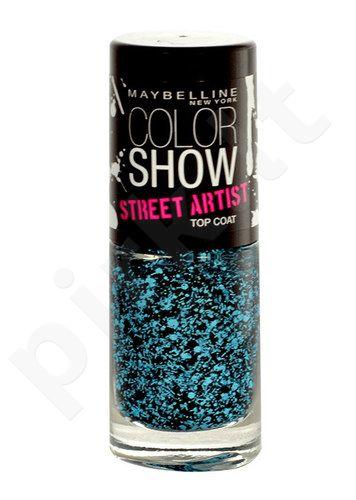 Maybelline nagų lakas Show Street Artist Top Coat, kosmetika moterims, 7ml, (01 Boom Box Black)