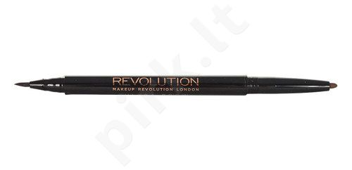 Makeup Revolution London Awesome dvipusis pieštukas Brow Arch & Shape, kosmetika moterims, 1,05g, (Fair)