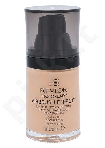 Revlon Photoready Airbrush Effect Makeup SPF20, makiažo pagrindas, kosmetika moterims, 30ml, (003 Shell)