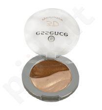 Essence 3D akių šešėliai, kosmetika moterims, 2,8g, (06 Irresistible Brazilian Sun)