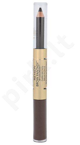 Revlon antakiams Fantasy pieštukas& gelis, kosmetika moterims, 1,49g, (Dark Brown)
