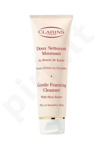 TESTER  Clarins Gentle Foaming Cleanser Dry Skin, 125ml, kosmetika moterims