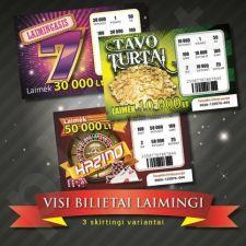Netikras loterijos bilietas
