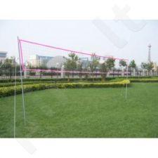 Tinklinio ir badmintono tinklas su stovu, 400 x 240 cm