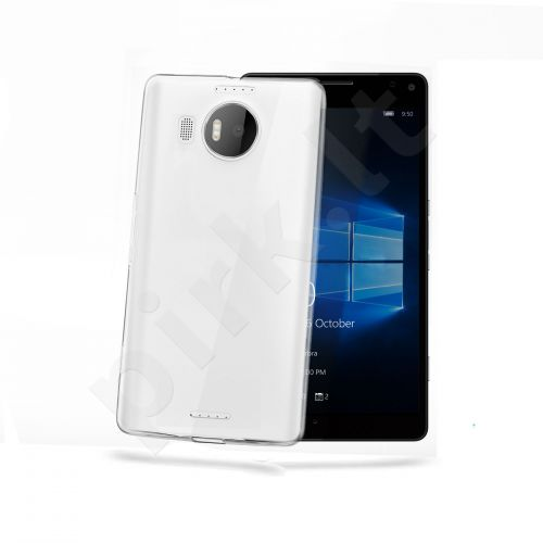 Microsoft Lumia 950 XL dėklas GELSKIN Celly permatomas