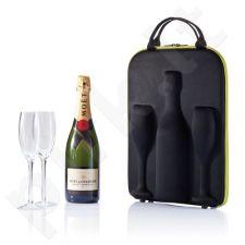 Šampano krepšys su taurėmis Flute