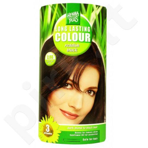 HENNAPLUS ilgalaikiai plaukų dažai Reddish Black