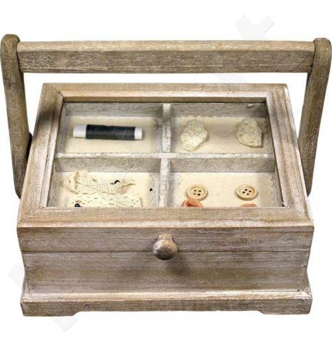 Dėžutė siuvimo reikmenims 19x23x18 cm