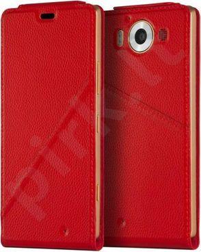 Microsoft 950 Lumia atverčiamas dėklas Mozo raudonas