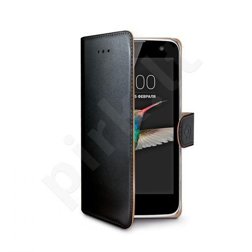 LG K4 atverčiamas dėklas Wally Celly juodas