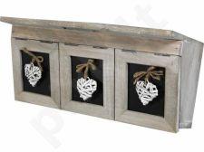 Trijų skyrelių dėžutė
