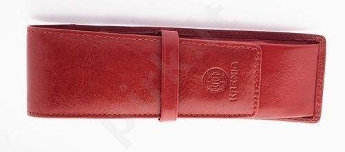 KRENIG Classic 12032 raudonas odinis dėklas