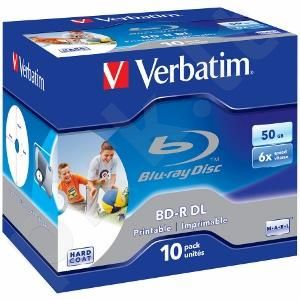 BluRay BD-R DL Verbatim [ jewel case 10 | 50GB | 6x| printable ]