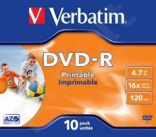 DVD-R Verbatim [ jewel case 10 | 4.7GB | 16x | spausdinimui ]