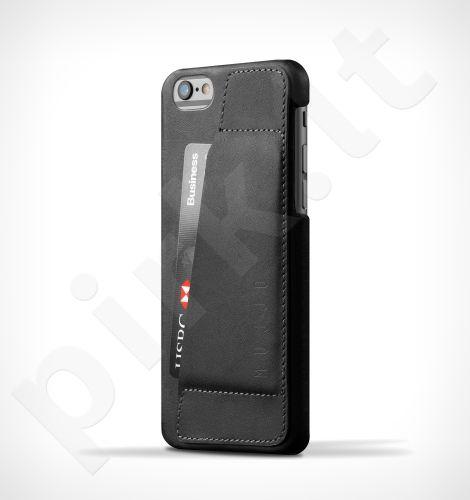 Apple iPhone 6/6S  atverčiamas dėklas piniginė 80 Mujjo juodas