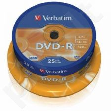 DVD-R Verbatim [ cake box 25 | 4.7GB | 16x | matte silver ]